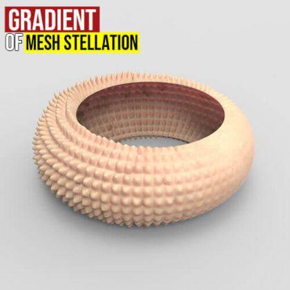 Gradient of Mesh Stellation Grasshopper3d
