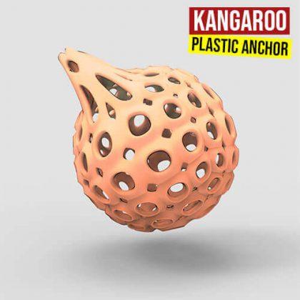 Kangaroo Plastic Anchor Grasshopper3d