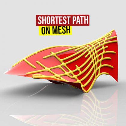 Shortest Path on Mesh Grasshopper3d