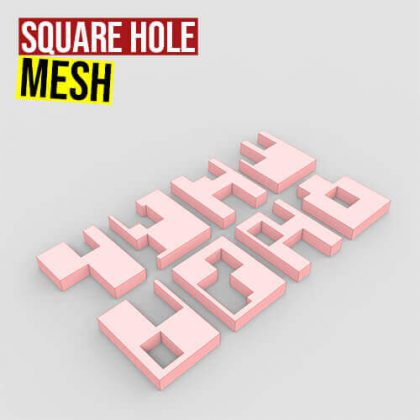 Square Hole Mesh Grasshopper3d