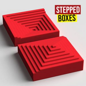 Stepped Boxes Grasshopper3d