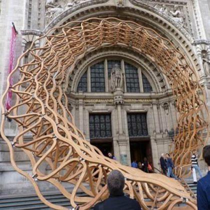 Timber Wave Installation Art