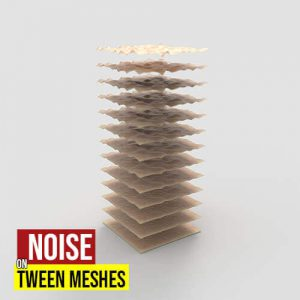 Noise on Tween Meshes Grasshopper3d