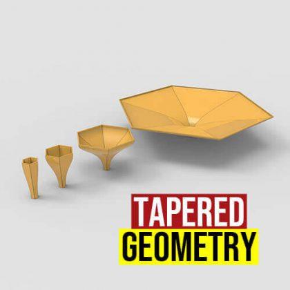 Tapered Geometry Grasshopper3d