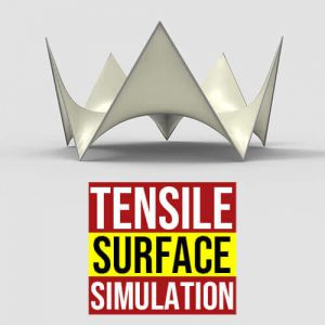 Tensile Surface Simulation Grasshopper3d