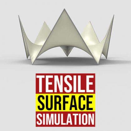 Tensile Surface Simulation Grasshopper3d