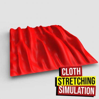 Cloth Stretching Simulation Grasshopper3d