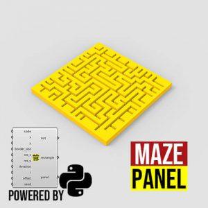 Maze Panel Python Grasshopper3d