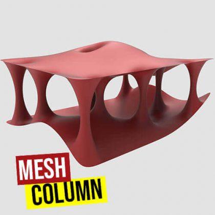 Mesh Column Grasshopper3d Weaverbird