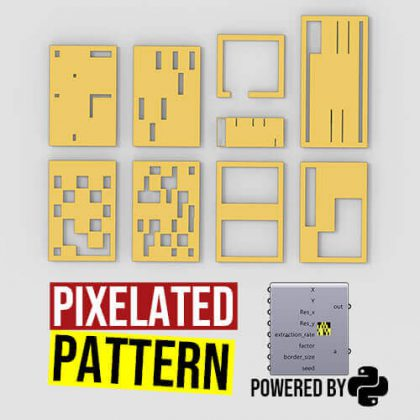 Pixelated Pattern Python Grasshopper3d