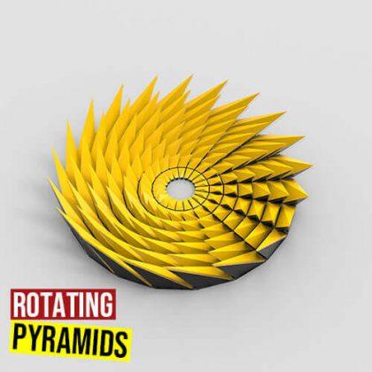 Rotating Pyramids Grasshopper3d