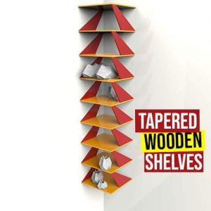 Tapered Wooden Shelves Grasshopper3d