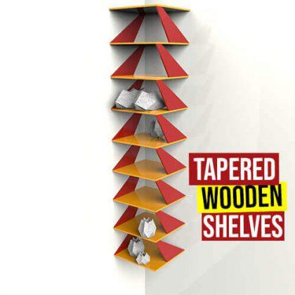 Tapered Wooden Shelves Grasshopper3d