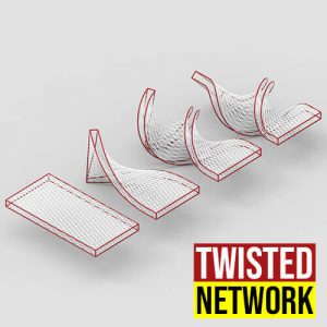 Twisted Network Grasshopper3d