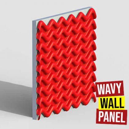 Wavy Wall Panel Grasshopper3d