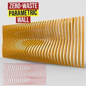 Zero-Waste Parametric Wall Grasshopper3d