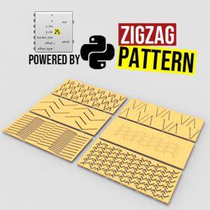 Zigzag Pattern Python Grasshopper3d