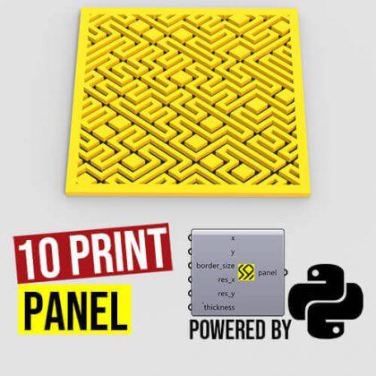 10 Print Panel Grasshopper3d Python