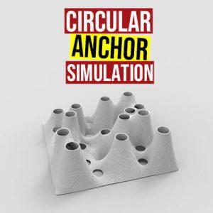 Circular Anchor Simulation Grasshopper3d