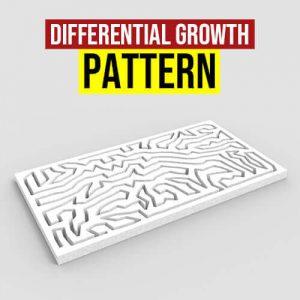 Differential Growth Pattern Grasshopper3d