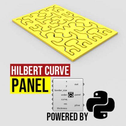Hilbert Curve Panel Python Grasshopper3d
