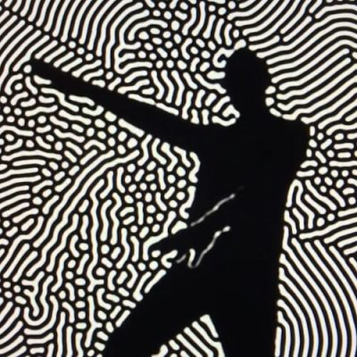 Kinect Silhouette Reaction-Diffusion