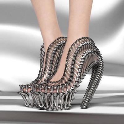 Exobiology digitally generated footwear