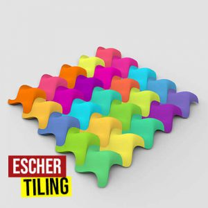 Escher Tiling Grasshopper3d Parakeet Plugin