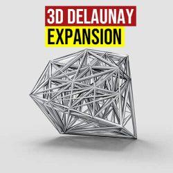 3D Delaunay Expansion Grasshoppe3d