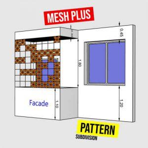 Grasshopper3d Mesh+ Plugin Pattern
