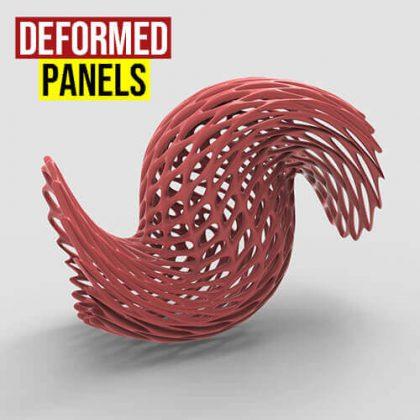 Deformed Panels Grasshopper3d Weaverbird plugin
