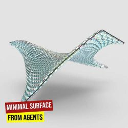 Minimal Surface from Agents