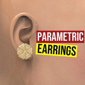 Parametric Earrings Grasshopper3d anemone plugin