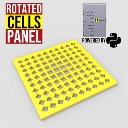 Rotated Cells Panel Grasshopper3d Python