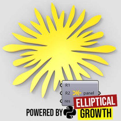 Elliptical Growth Python Grasshopper3d
