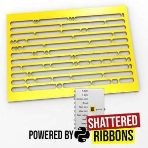 Shattered Ribbons Python Grasshopper3d