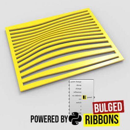 Bulged Ribbons Grasshopper3d Python