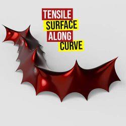 Tensile Surface Along Curve Grasshopper3d