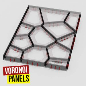 Voronoi Panels Grasshopper3d OpenNest Plugin