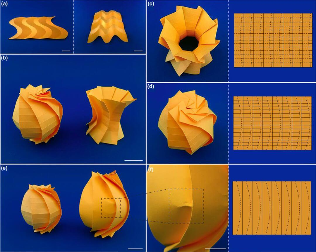Flat sheets to curved geometries