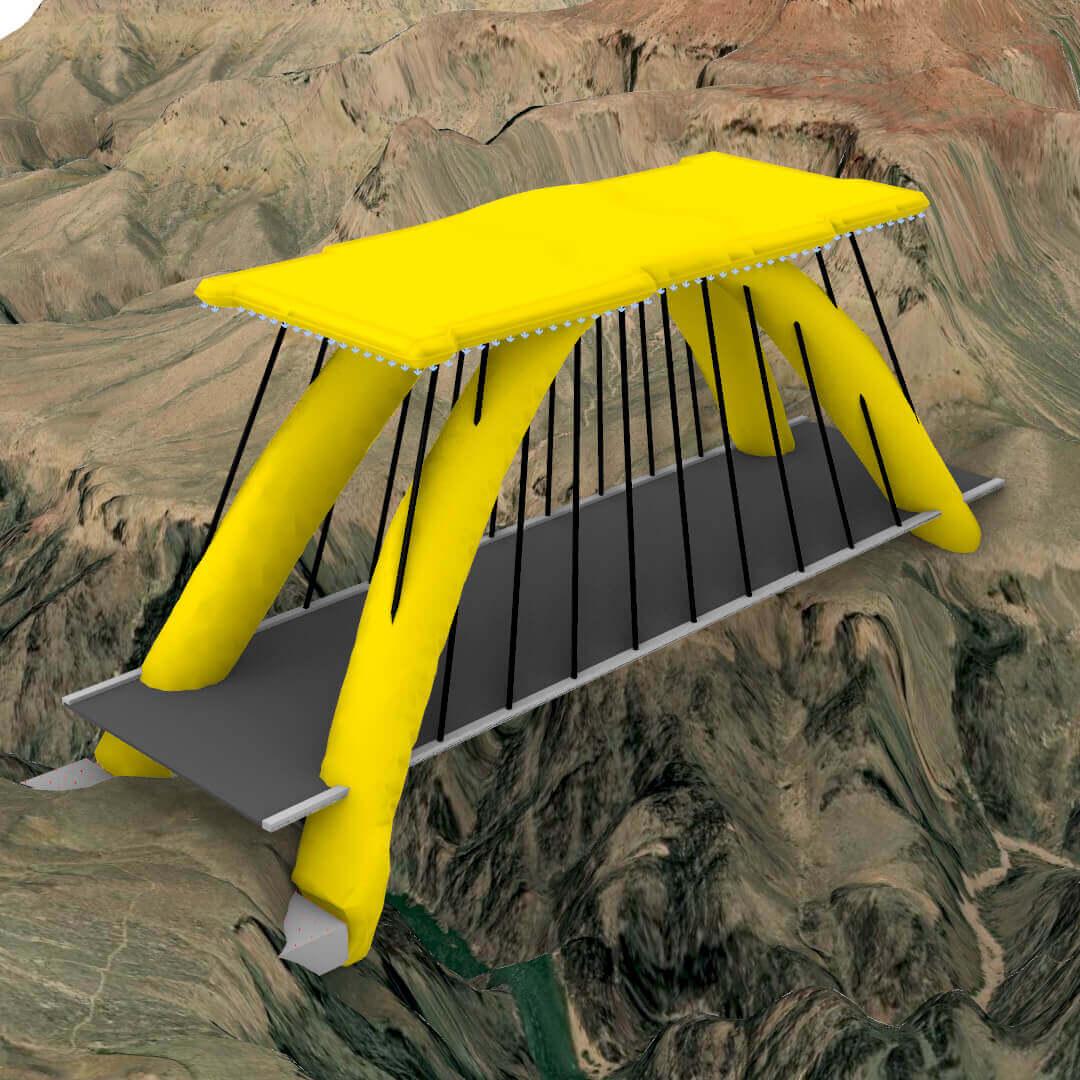 Optimized Suspension Bridge