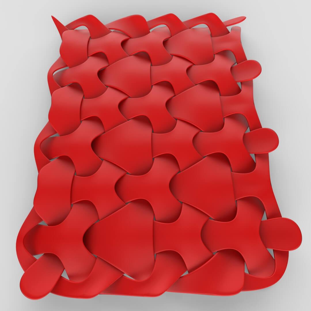 Triangular Weave Pattern